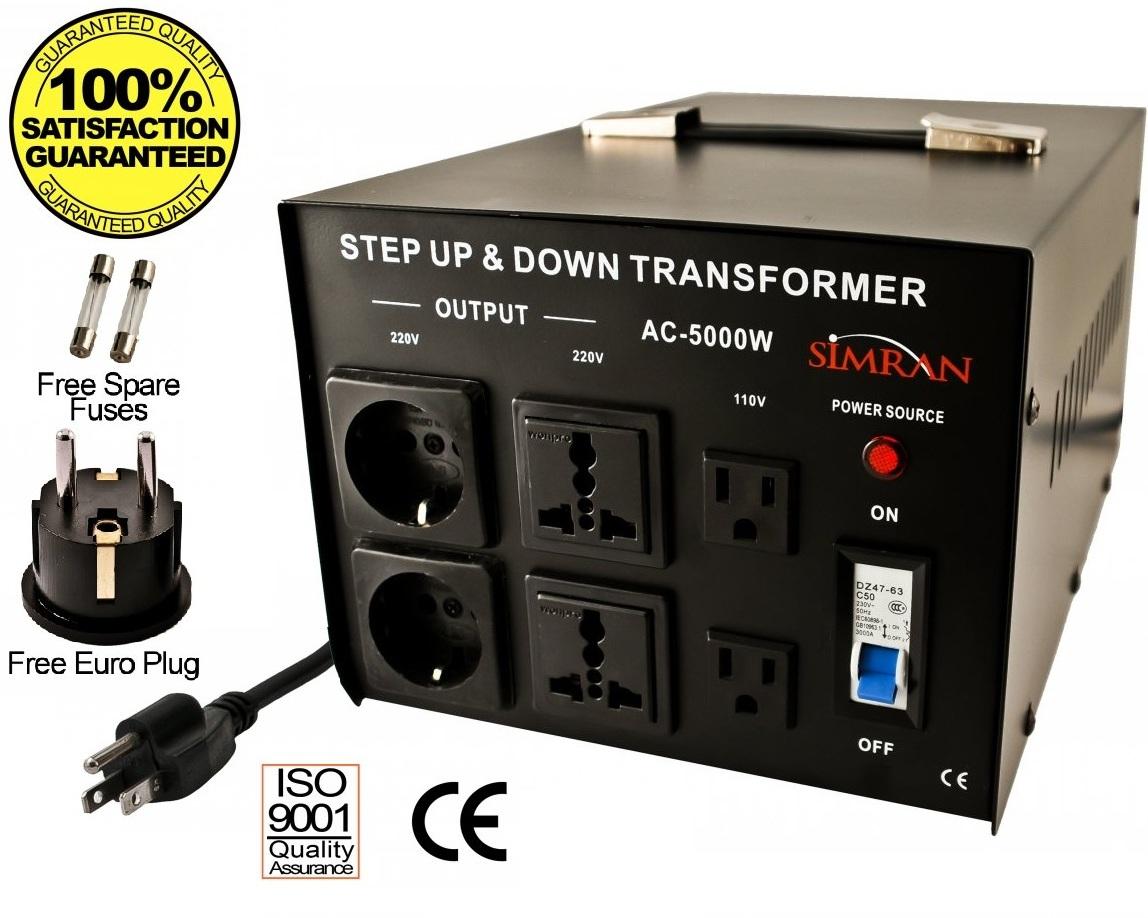 Simran Ac 5000 Step Up And Down 5000 Watts Voltage Converter Transformer 110 220volts