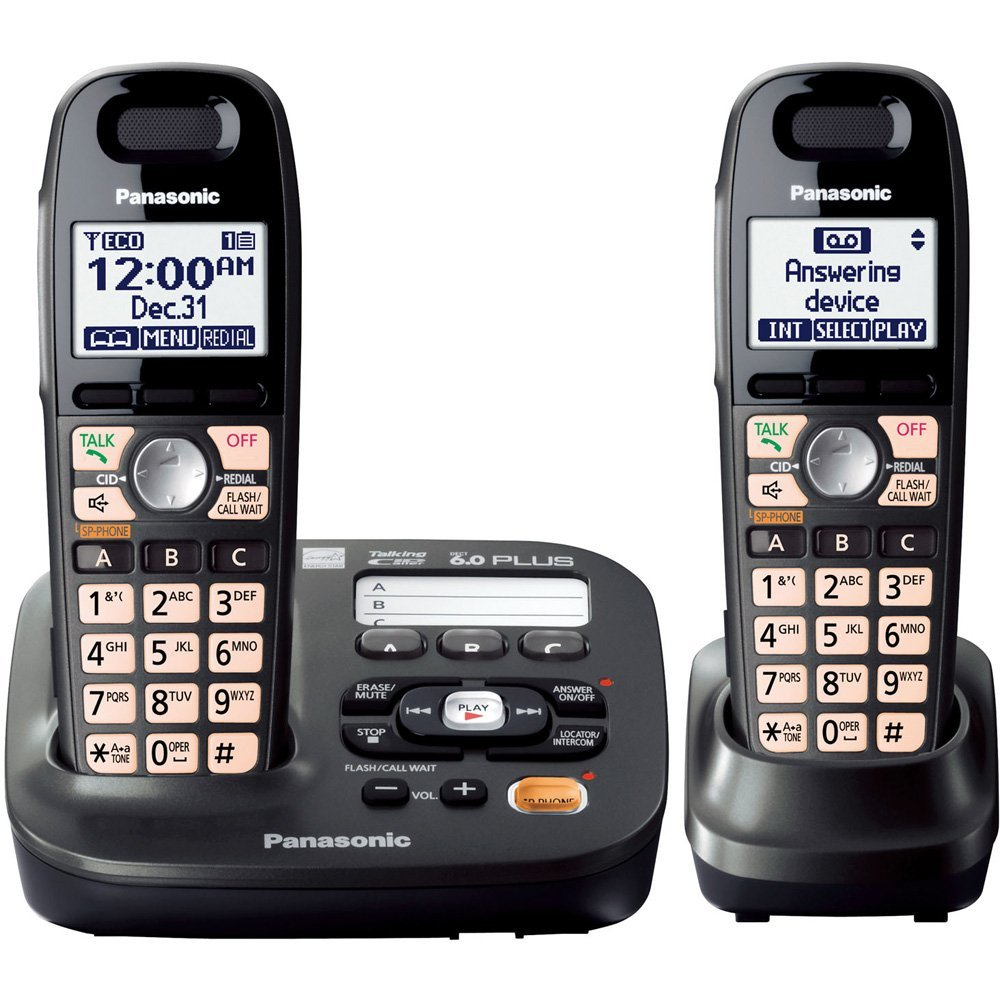 panasonic amplified cordless phone with 3 handsets