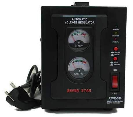 Seven Star 2,000 Watt Deluxe Automatic Voltage Regulator, Voltage Converter Transformer (CE Mark)