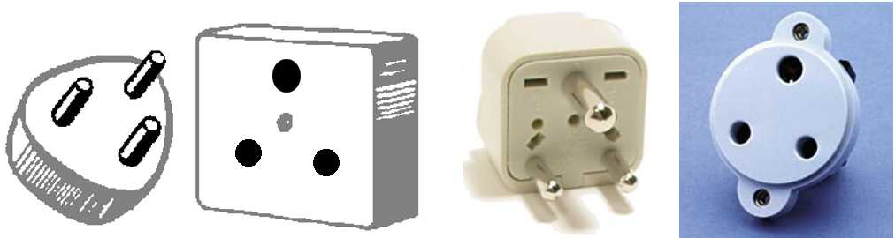 TYPE D plugs and outlets