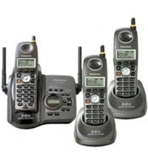 Panasonic KX-TG5653B 5.8 GHz Cordless Phone System with 3-Handsets and Digital Answering System