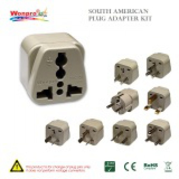 South American Plug Adapter Kit 110220volts Com