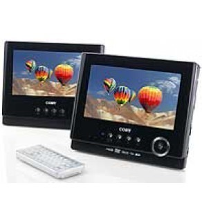 "Coby 7"" TFDVD7751 Dual Widescreen Tablet Portable DVD Player"