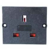 Type G Electrical Receptacle Outlet for UK 13 AMP Panel Mount Black