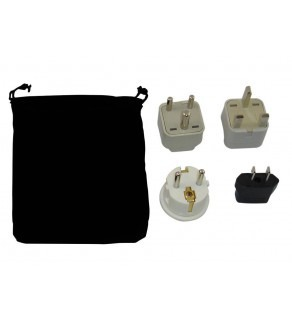Guyana Power Plug Adapters Kit with Travel Carrying Pouch - GY (Default)
