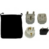 Lesotho Power Plug Adapters Kit with Travel Carrying Pouch - LS