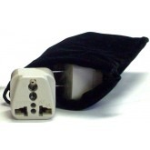 French Southern Territories Power Plug Adapters Kit, Carrying Pouch
