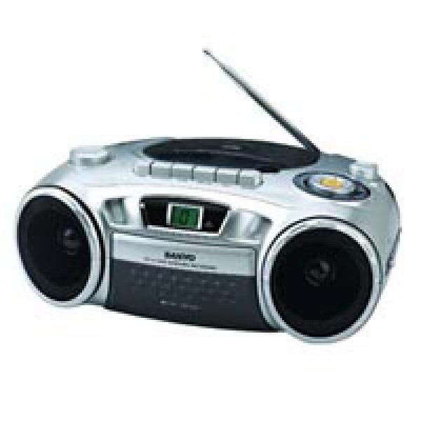 sanyo portable cd radio cassette recorder. Black Bedroom Furniture Sets. Home Design Ideas