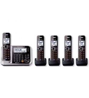 Panasonic KX-TG7875S DECT 6.0 5-Handset High Quality Phone System 110-240 Volts