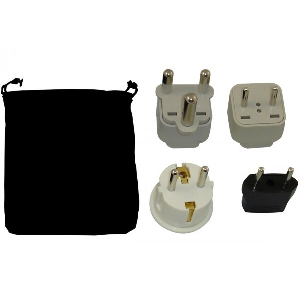 Namibia Power Plug Adapters Kit With Travel Carrying Pouch