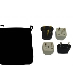 Palestinian Territory Power Plug Adapters Kit Travel Carrying Pouch (Default)