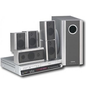 Toshiba Code Free DVD-VCR Home Theater System with built-in PAL to NTSC Converter