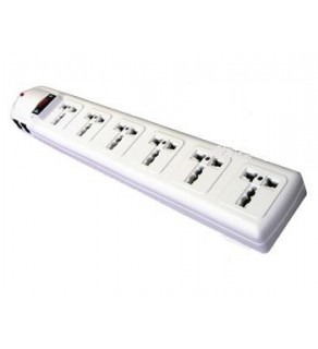 Tripplite 6-Outlet Universal Power Strip, with Surge, UK & Iraq plug