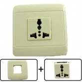 Type A through L Universal Electrical Receptacle Outlet 10 AMPS, With Cover Plate