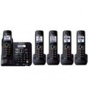 Panasonic KX-TG6645 Dect 6.0 Plus Expandable Digital Cordless Answering System, 5 Handsets