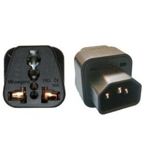 WonPro Universal IEC Adapter C14 Male to Universal Female
