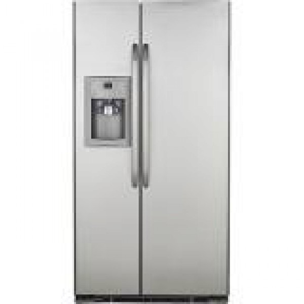 ge 22 cu ft gse22kebf ss side by side refrigerator 220. Black Bedroom Furniture Sets. Home Design Ideas
