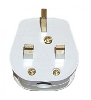 Terminate a Type G Electrical AC Male 13 amps fused UK Power Plug white