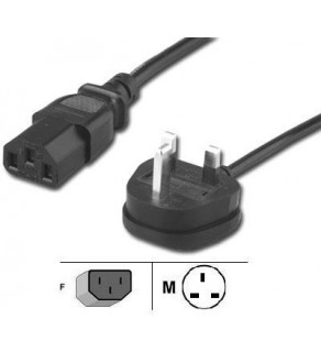 England - UK Power Cord for NoteBook, with Fuse, 8 ft