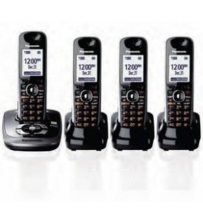 Panasonic KX-TG7534B Dect 6.0 Expandable Cordless Phone with Talking Caller ID & Answering System -