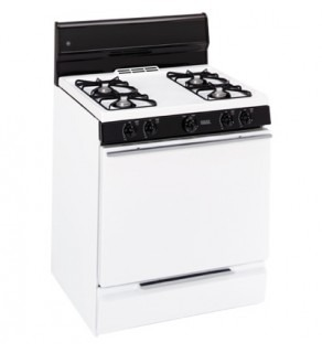 GE 4.4 Cu. Ft. Oven JGBS04PPH-WH Porcelain Door Gas Range 220 Volts