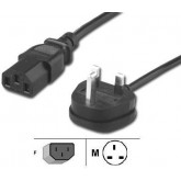 England - UK Power Cord for NoteBook, with Fuse, 6 feet