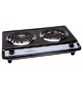Double Burner Black 1650 Watt