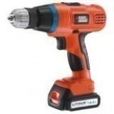 "Black & Decker EPL-148BK 14.4 V Cordless Drill 3/8"" 220 volts"