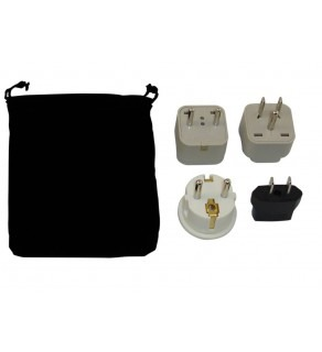 Tahiti Power Plug Adapters Kit with Travel Carrying Pouch (Default)