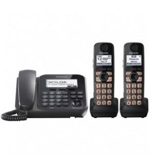Panasonic KX-TG4772B Dect 6.0 2-Handset 1-Line Landline Telephone 110-240 Volts