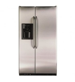 Ge 22 Cu.Ft Gse22Kewfss Freestanding Stainless Flat Door Sid By Side Refrigerator 220 Volts