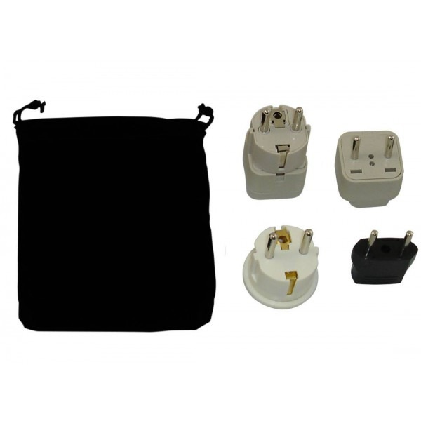 Belgium Power Plug Adapters Kit With Travel Carrying Pouch