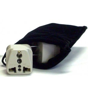Maldives Power Plug Adapters Kit with Travel Carrying Pouch