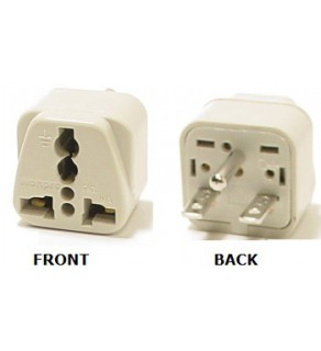 WonPro WA-18 Universal to North American NEMA 6-15 Grounded Power Plug Adapter