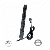 Regvolt Aluminum Alloy Shell Rack-Mount Server PDU Power Distribution Unit Type C, E, F (European Shuko 8 Outlet/16 AMP)