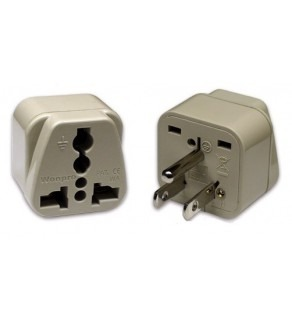 US Grounded Travel Power Plug Adapter