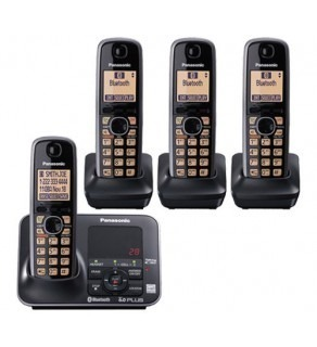 Panasonic KX-TG7624B DECT 6.0 Link-to-Cell via Bluetooth Cordless Phone ,