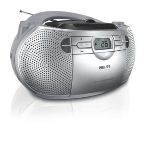 Philips AZ1047 MP3/CD Soundmachine Boom Box Player 110 220 Volts