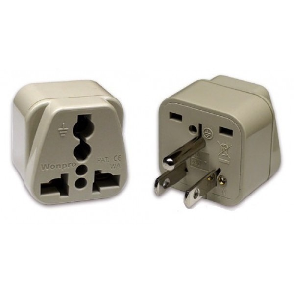 Wonpro Wa 5 Universal To Us Grounded Travel Power Plug