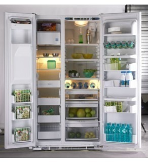 Ge 23 Cu.Ft Pce23Nhtf- Ww Sid By Side Refrigerator 220 Volts