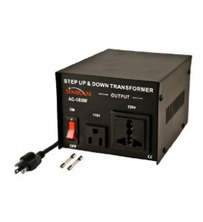 Simran AC-100, 100 Watts Step Up and Down Voltage Converter Transformer 110 220 Volts