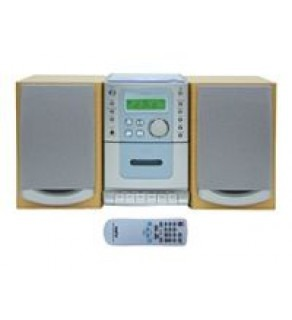 Sanyo Micro System Cd Player Cass W-digital Tuner Remote 110-220 Volts
