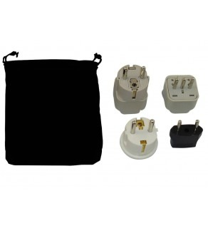Canary Islands Power Plug Adapters Kit with Travel Carrying Pouch