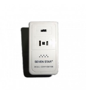 Seven Star 50/1650 Watt Deluxe Travel Voltage Converter, SS-207 220-240 Volts to 110-120v