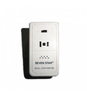 Seven Star 50/1650 Watt Deluxe Travel Voltage Converter, SS-207 220-240 Volts to 110-120v