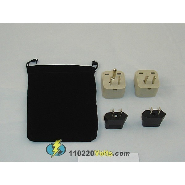 Dominican Republic Power Plug Adapters Kit With Carrying