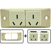 Type I Electrical Receptacle Outlet for Australia & New Zealand, With Face Plate