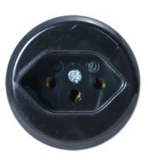 Type J Electrical Receptacle Outlet for Switzerland Panel Mount