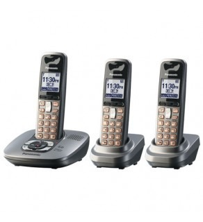 Panasonic KX-TG6433M 3-handset Dect Phone Bundle with Answering System