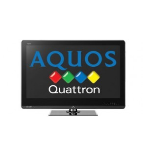 "SHARP AQUOS 40"" LC40LE820M QUATRON LED MULTISYSTEM TV FOR 110-220 VOLTS"